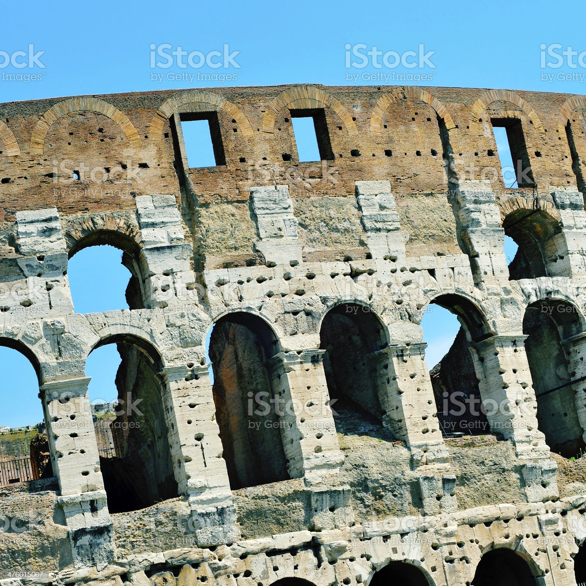 The Coliseum in Rome, Italy royalty-free stock photo