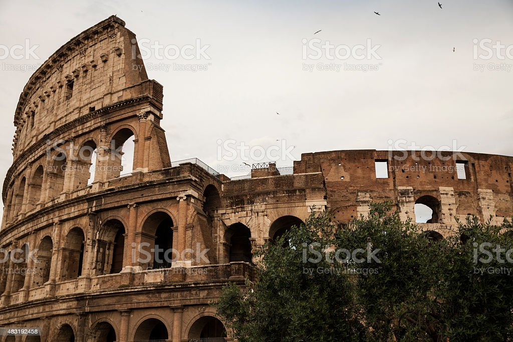 The Coliseum in Rome stock photo