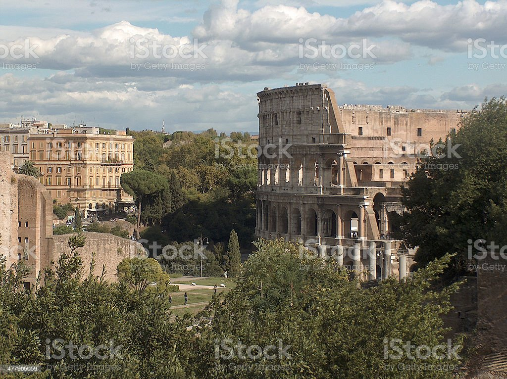 The Coliseum - Rome, Italy royalty-free stock photo