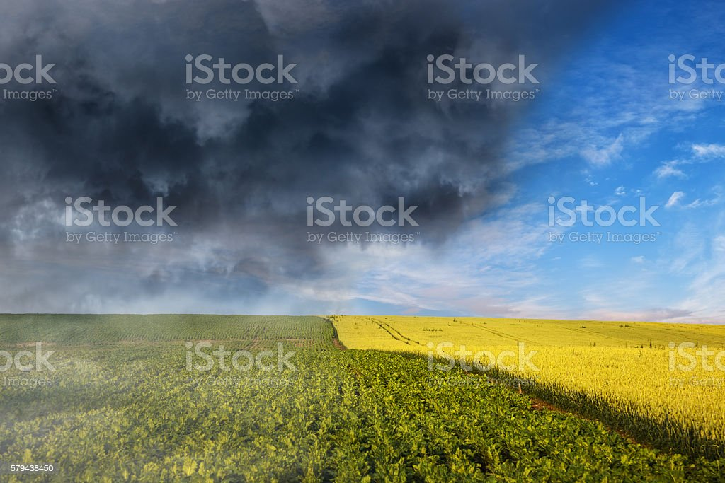 The collapse of weather stock photo