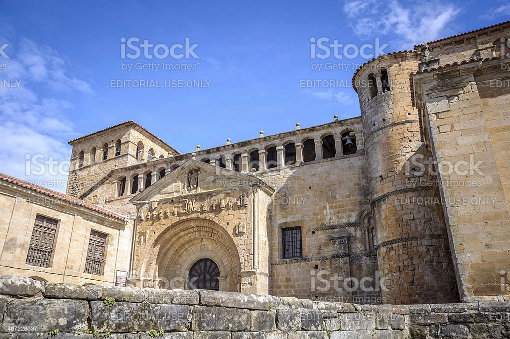La Colegiata in Santillana del Mar stock photo