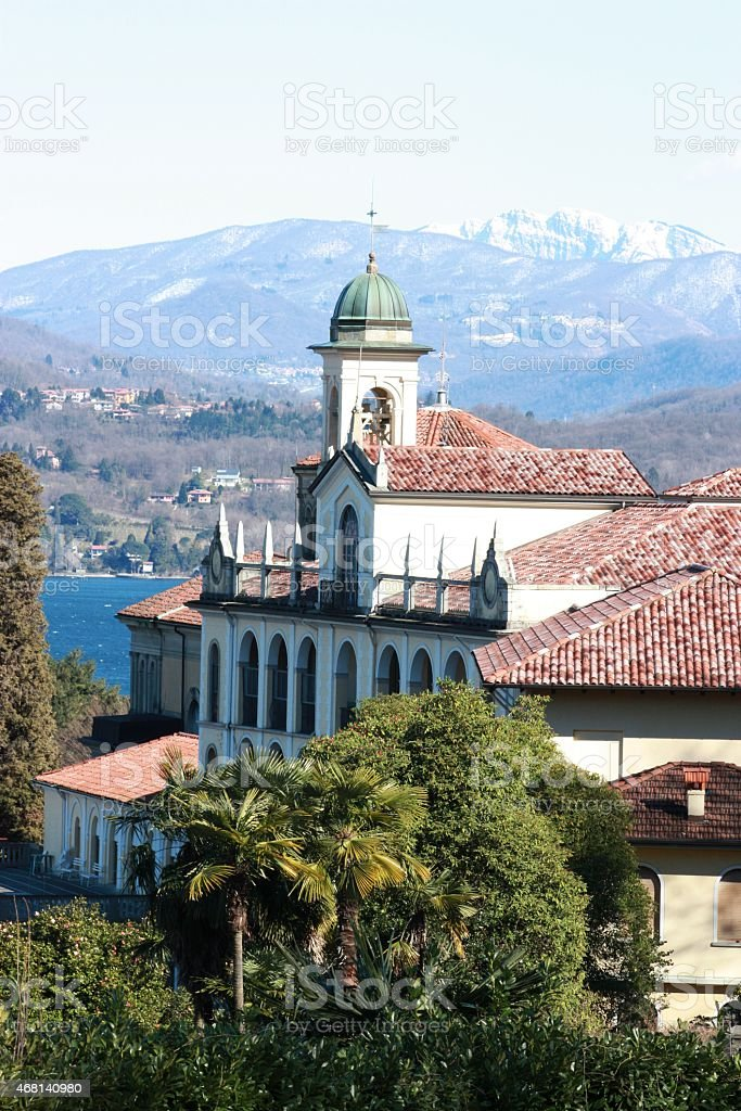 The Collegio Rosmini and the Church of the Santissimo Crocefisso stock photo