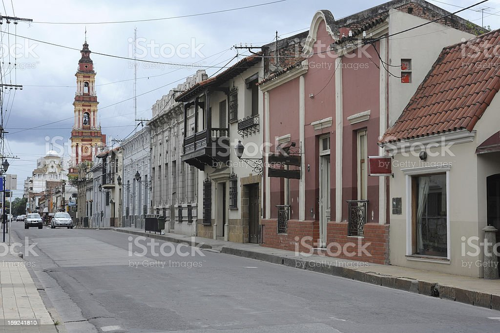 The colonial town of Salta royalty-free stock photo