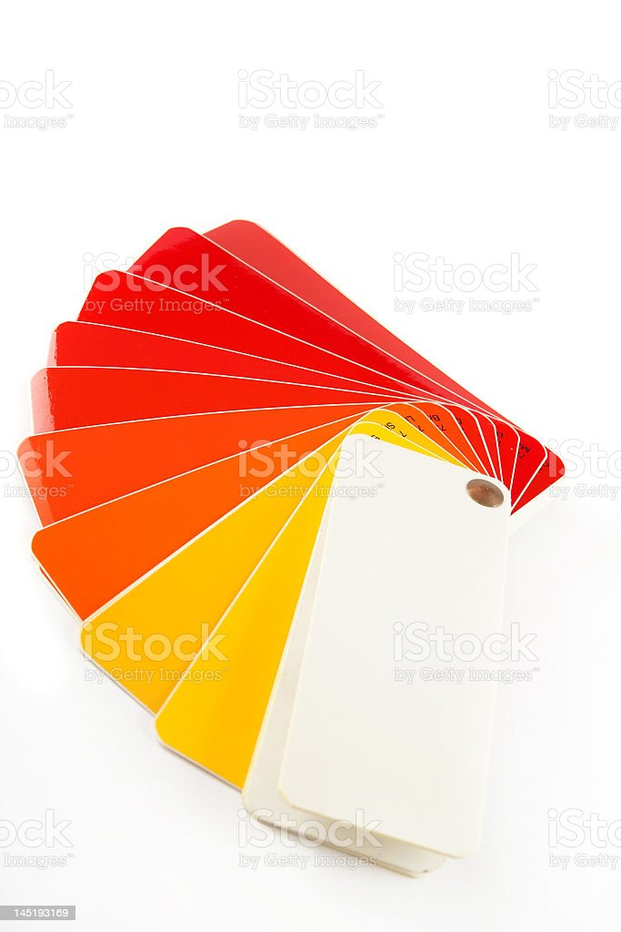 The color card. royalty-free stock photo