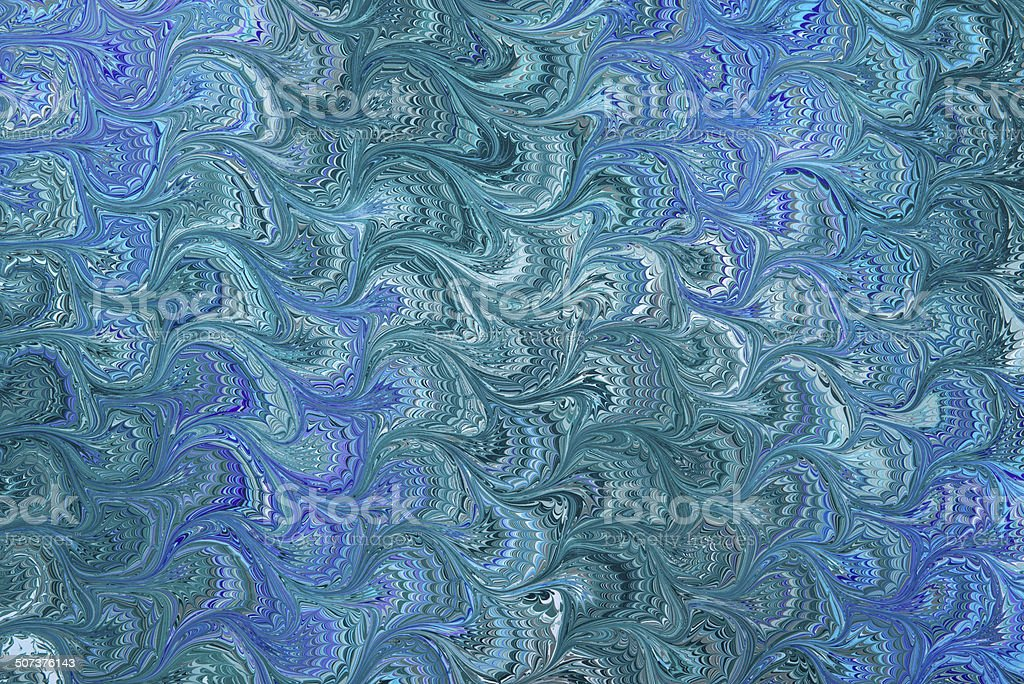 The color of money reverse bouquet marbled paper stock photo