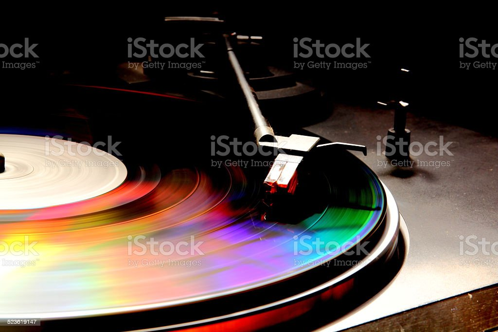 The color of music stock photo