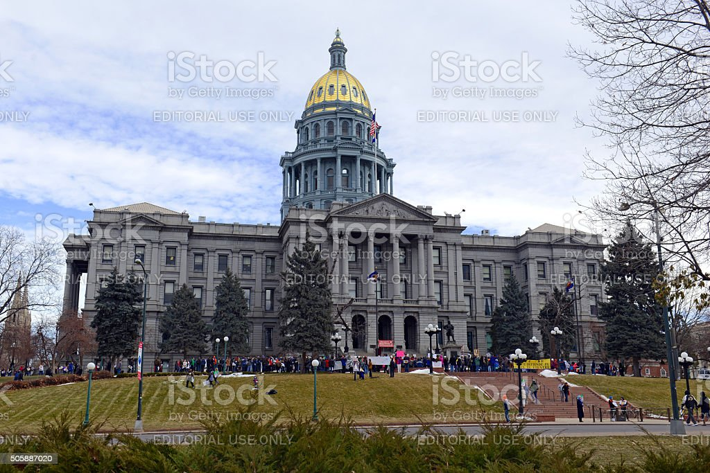 The Colorado Right to Life march in Denver stock photo