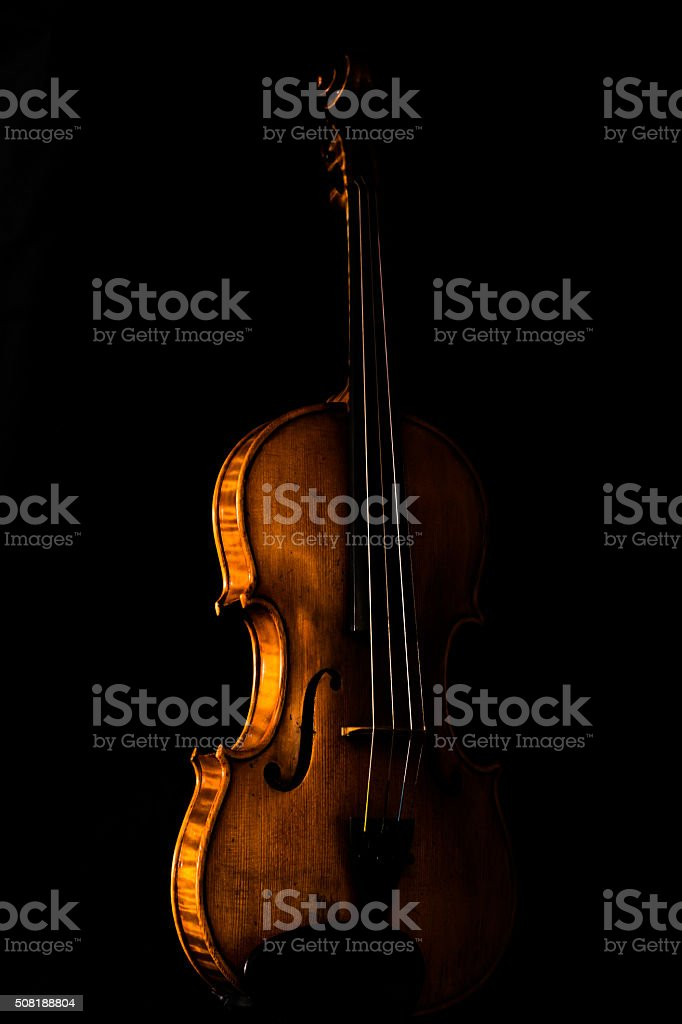 The Colored Violin stock photo