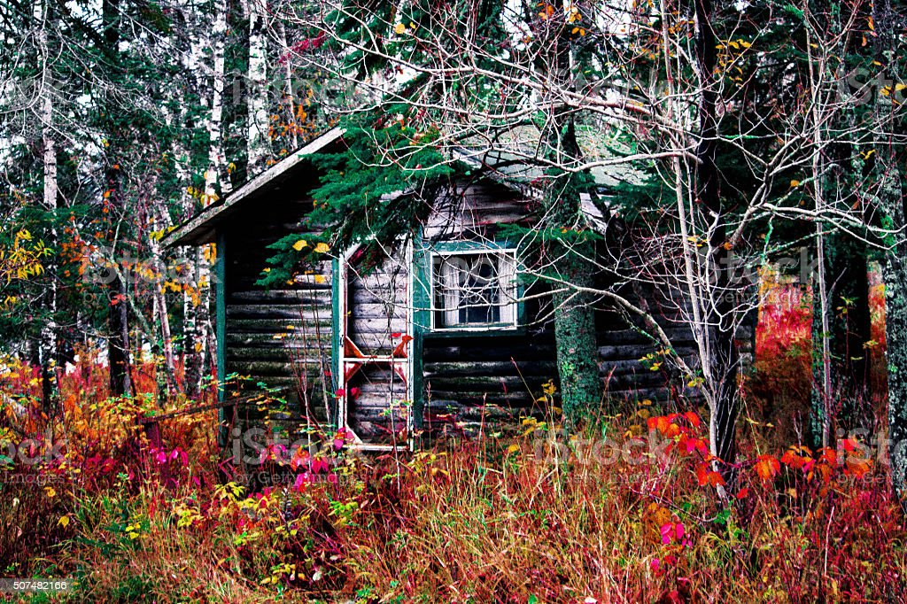 The Colorful Cabin royalty-free stock photo