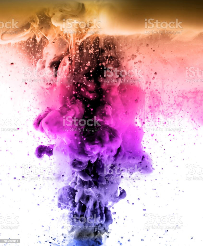 The colorful dye in the water. Abstract. background. Wallpaper. Concept art stock photo