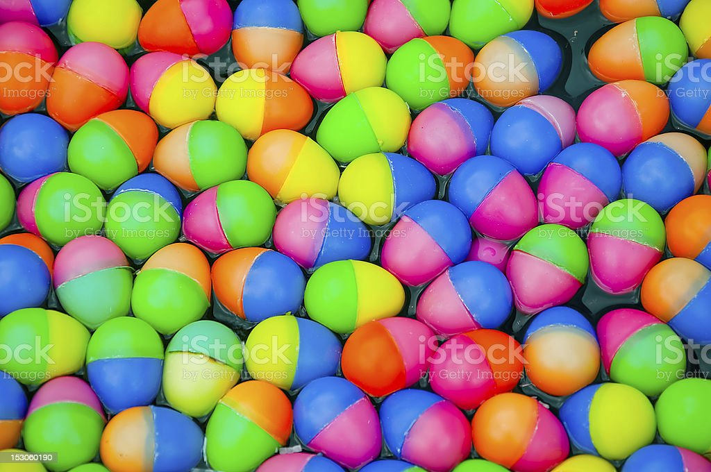 The Colorful easter eggs plastic royalty-free stock photo