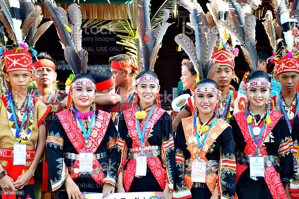 The colorful Murut of Sabah stock photo