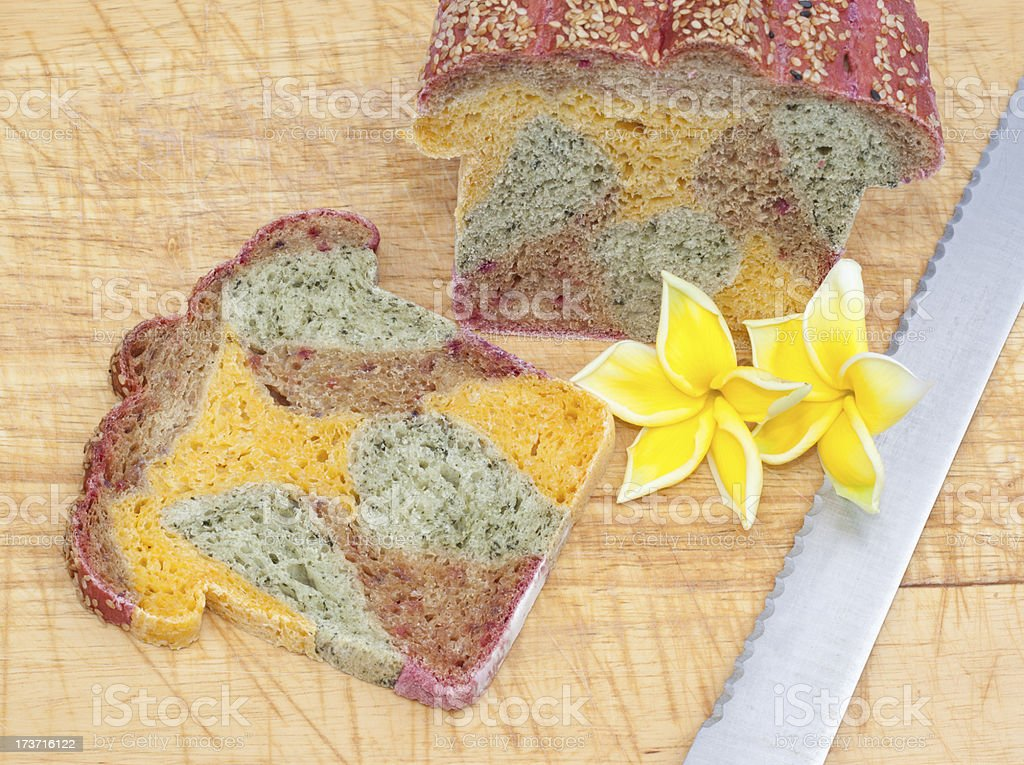 The colorful of bread royalty-free stock photo