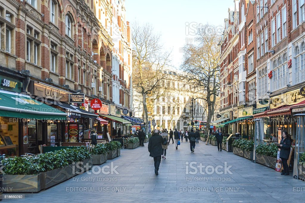 The colorful streets of London stock photo