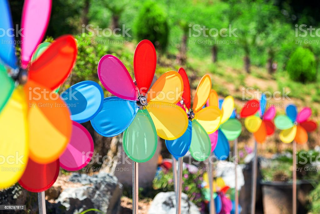 the colorful weather vane stock photo