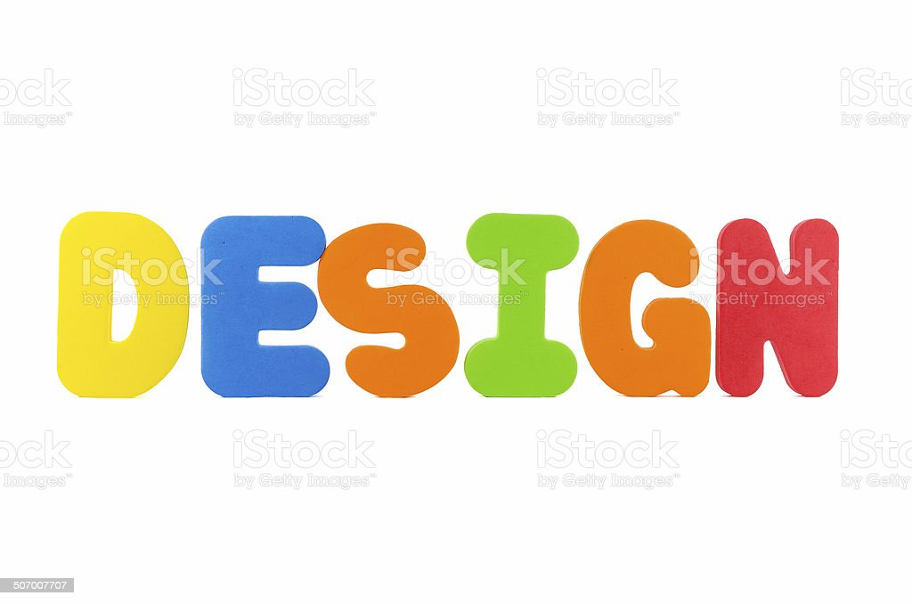 the colorful word DESIGN royalty-free stock photo