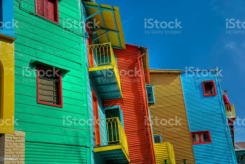 The Colors of Caminito in Buenos Aires royalty-free stock photo