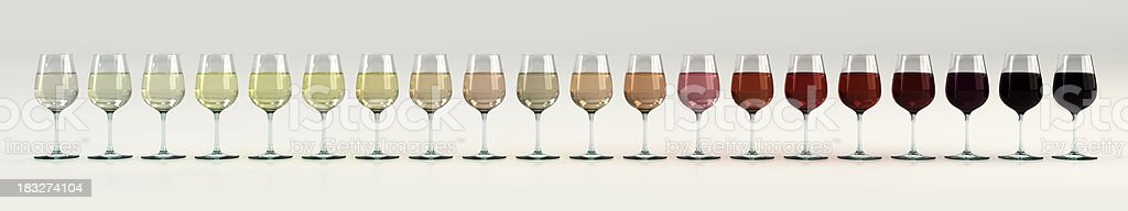 The Colors of Wine stock photo