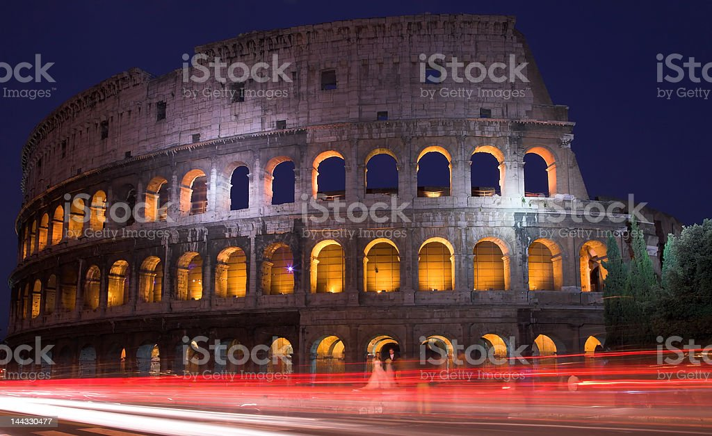 The Colosseum At Dusk, Rome, Italy royalty-free stock photo