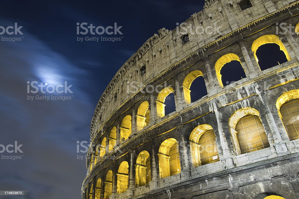 The Colosseum at night. royalty-free stock photo