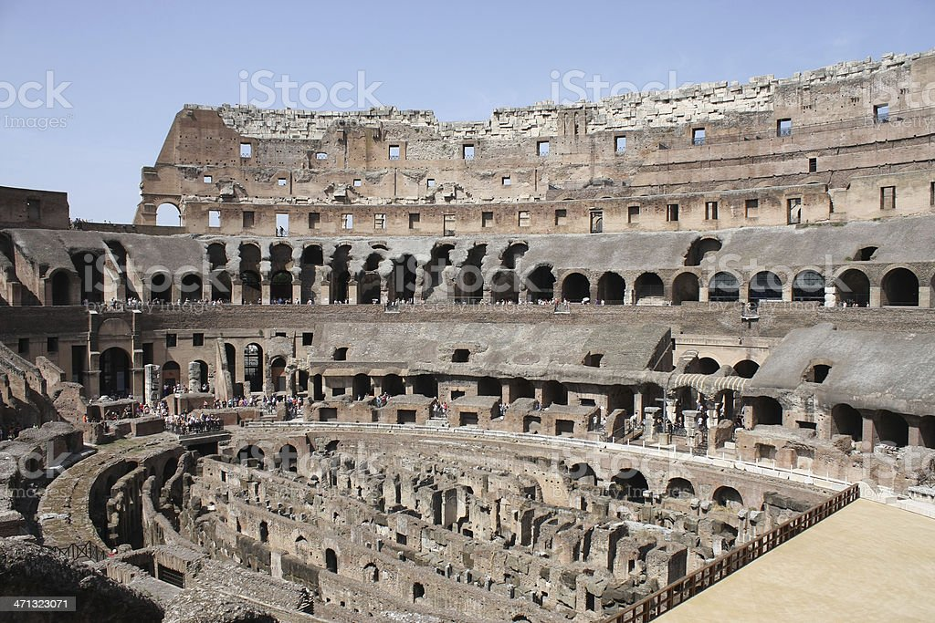 The Colosseum form inside. royalty-free stock photo