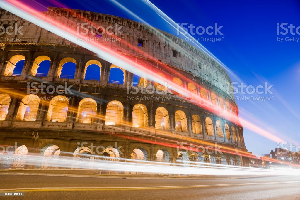 The Colosseum in Rome Italy royalty-free stock photo