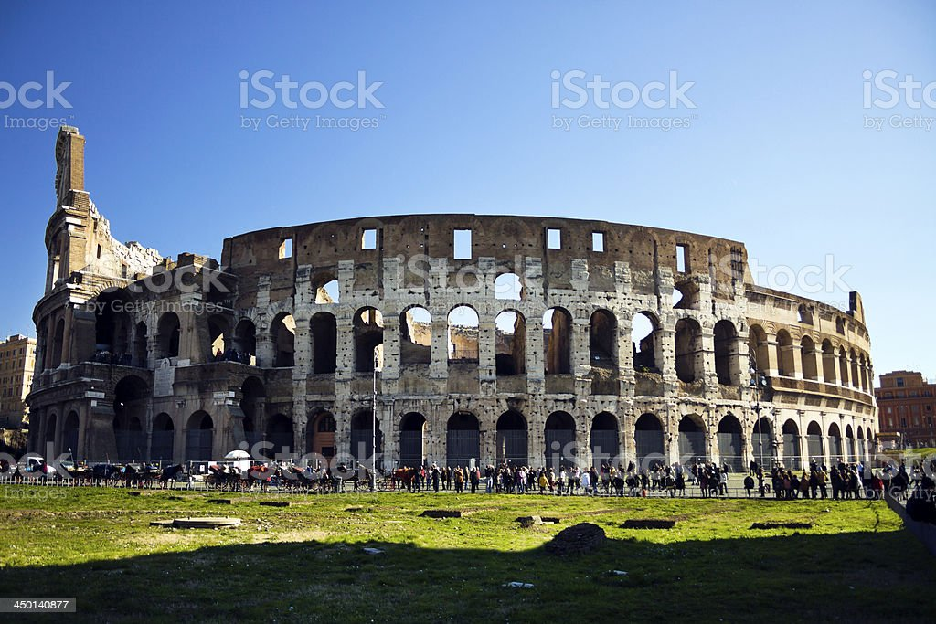 The Colosseum in Rome, Italy royalty-free stock photo