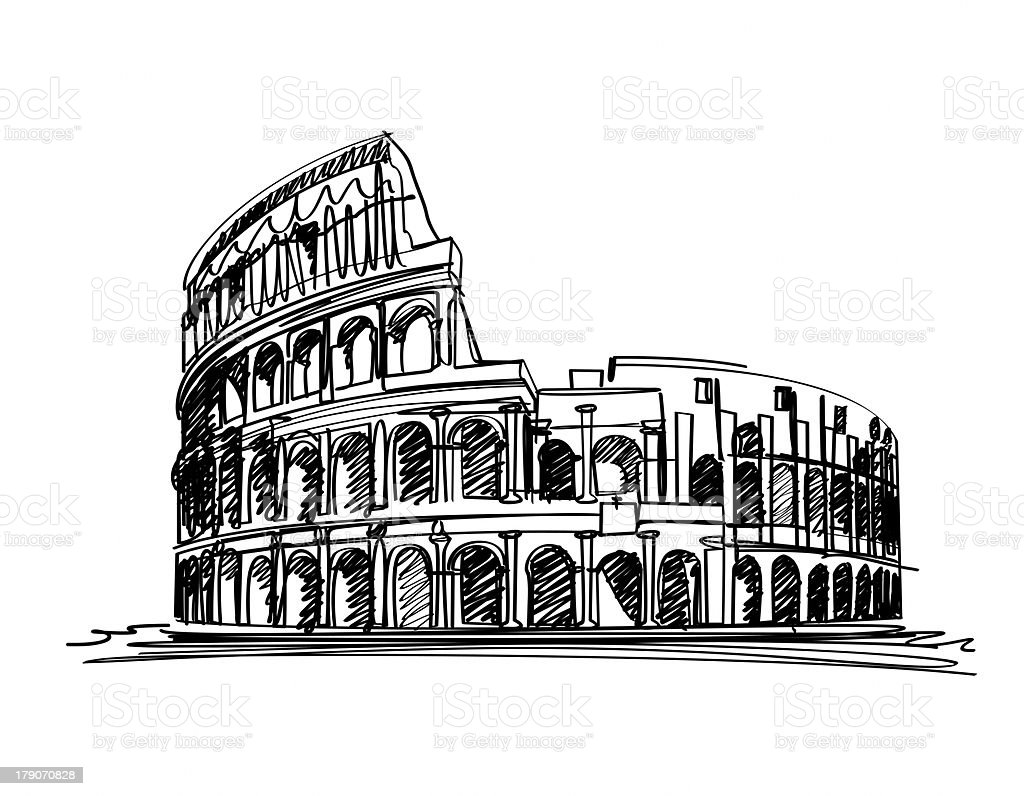 ROME, ITALY - The Colosseum royalty-free stock photo