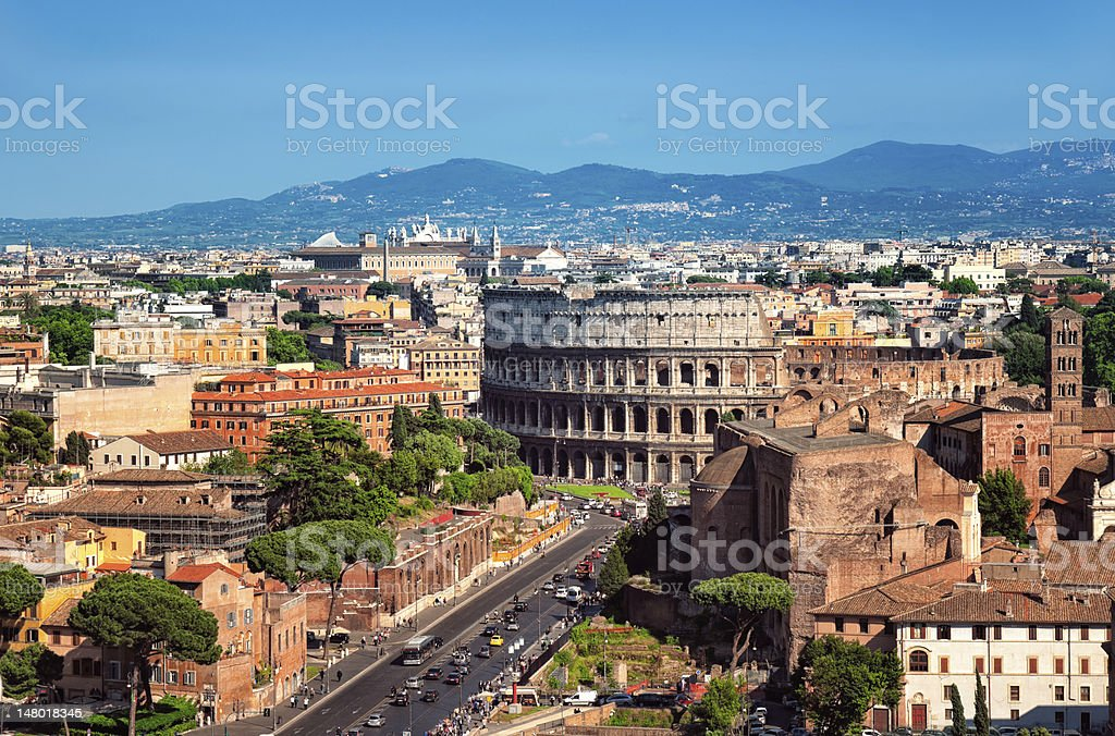 The Colosseum, Rome - Italy. stock photo