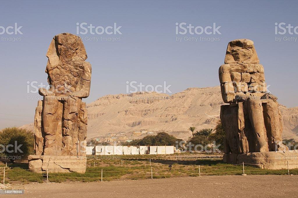 The Colossus of Memnon stock photo