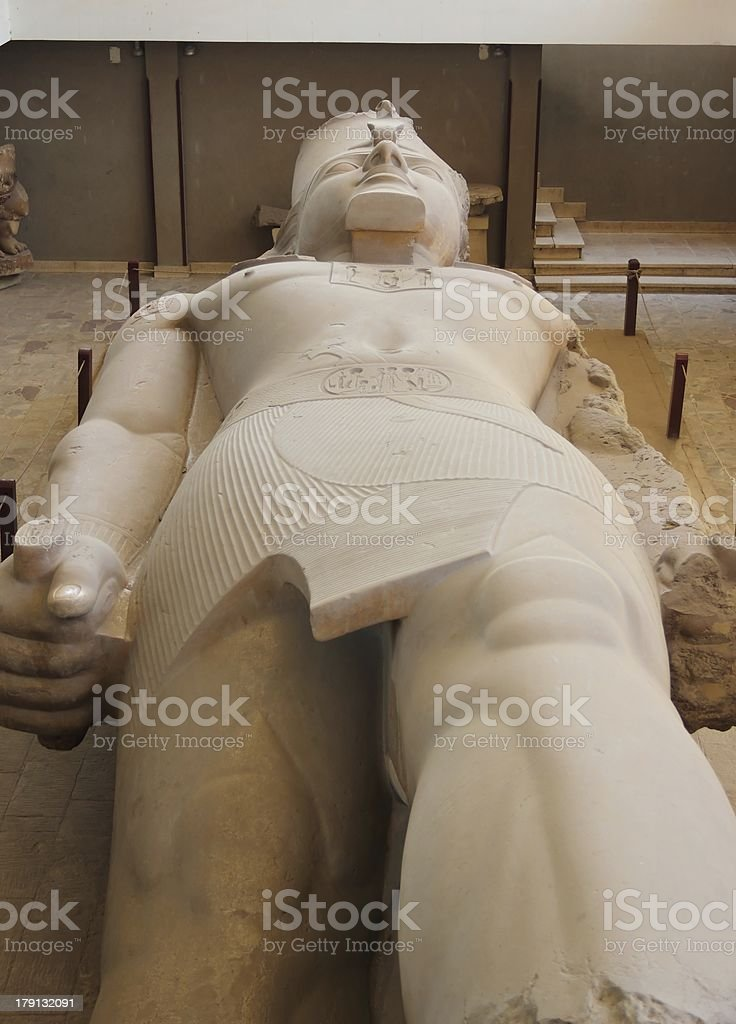 The colossus of Ramses II in Memphis, Egypt. stock photo