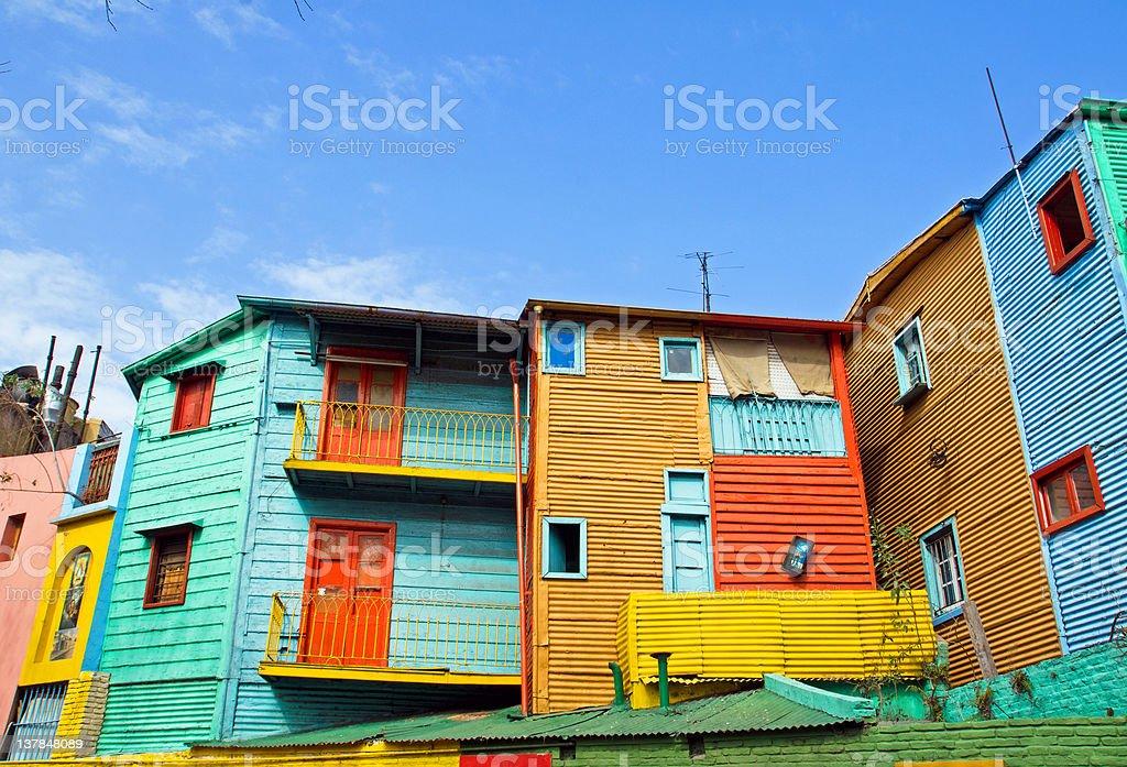 The colourful buildings of La Boca stock photo