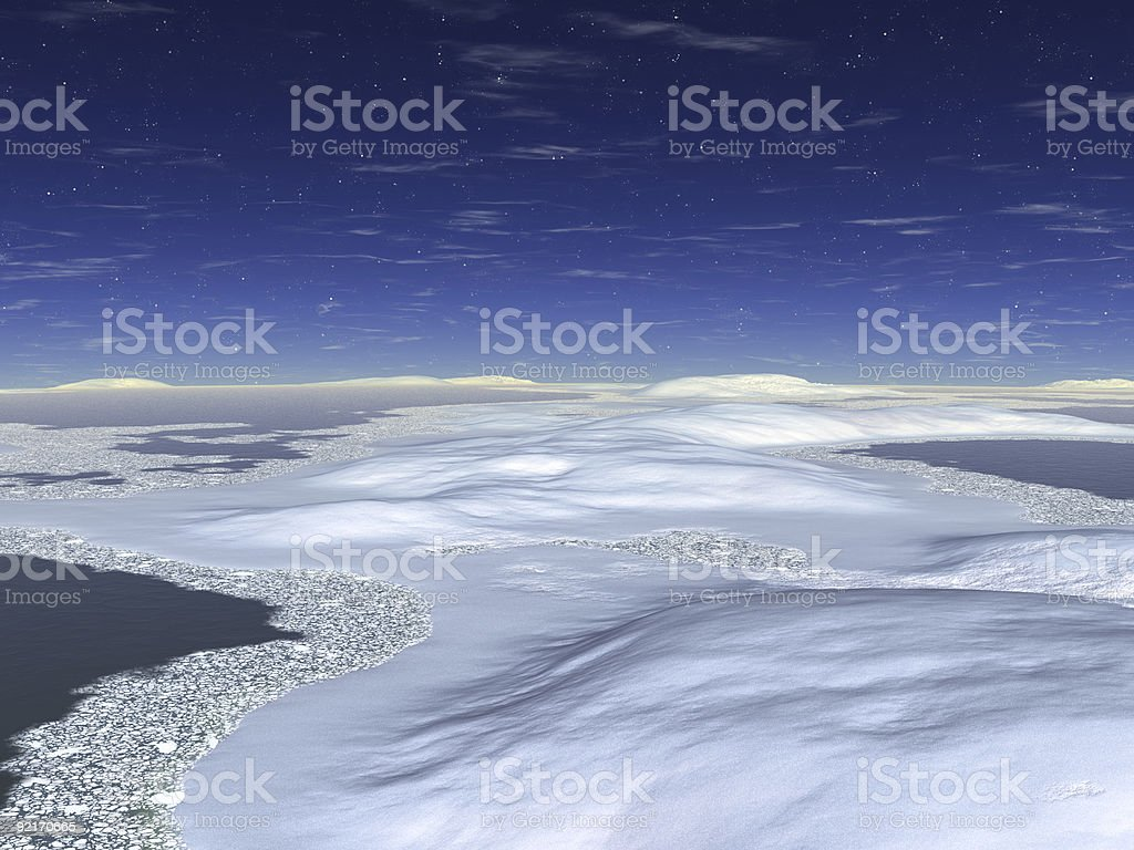 The colourful night sky. Rendered royalty-free stock photo