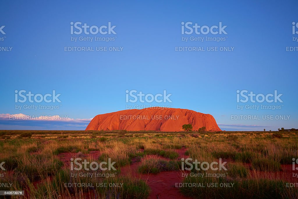 The Colours Of Uluru At Dusk stock photo