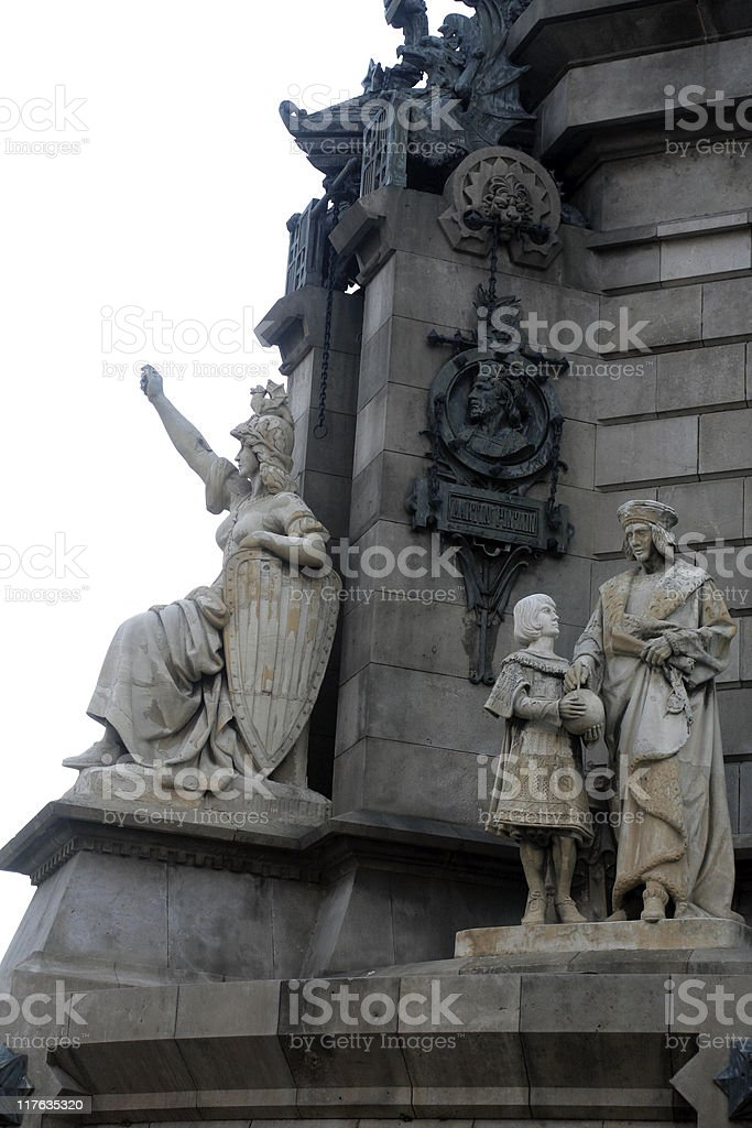 The Columbus Monument in Barcelona royalty-free stock photo