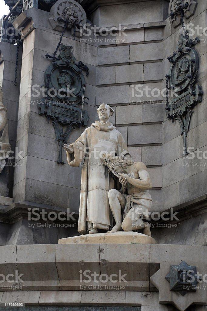 The Columbus Monument in Barcelona stock photo