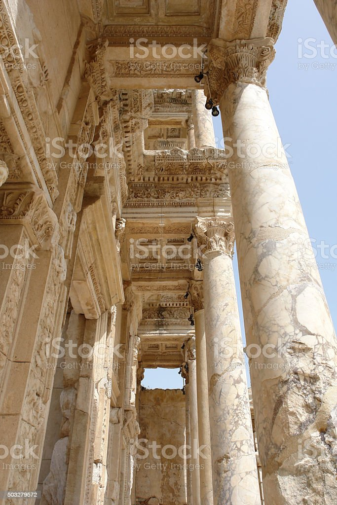 The column in Efes. stock photo