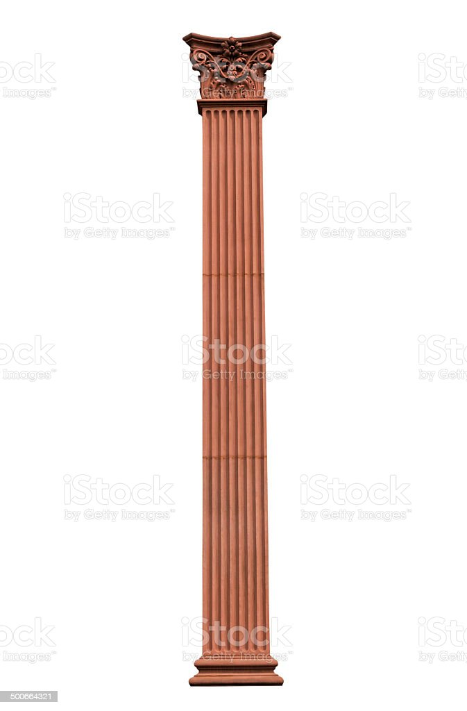 The Column isolated on white background royalty-free stock photo