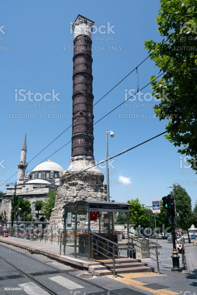The Column of Constantine in istanbul stock photo