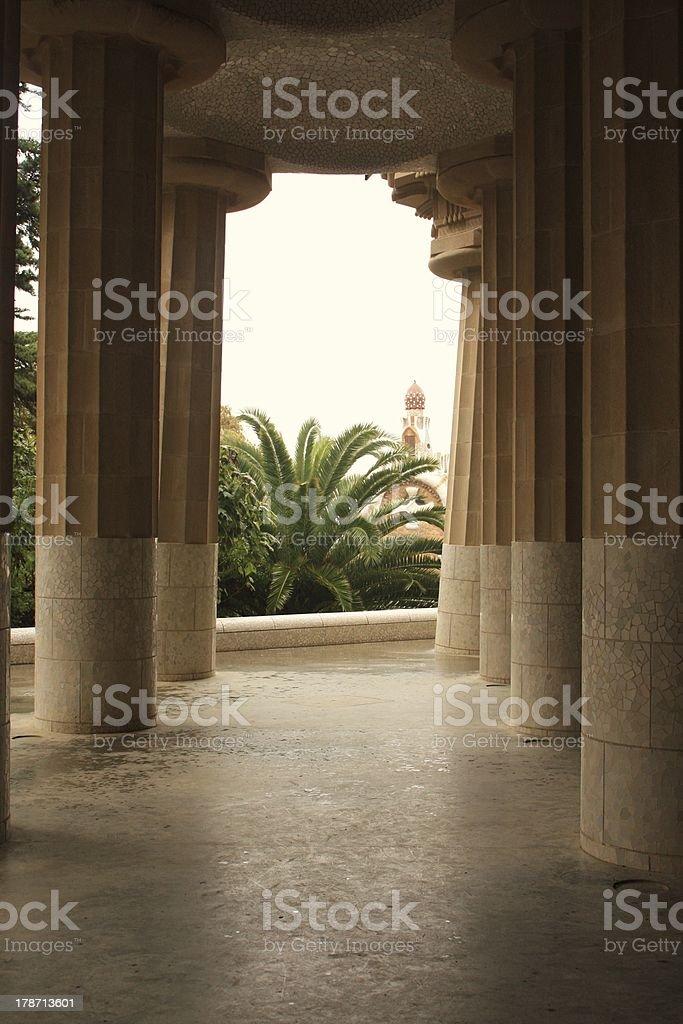 The columns royalty-free stock photo