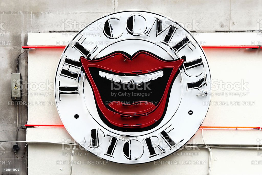 The Comedy Store illuminated sign stock photo