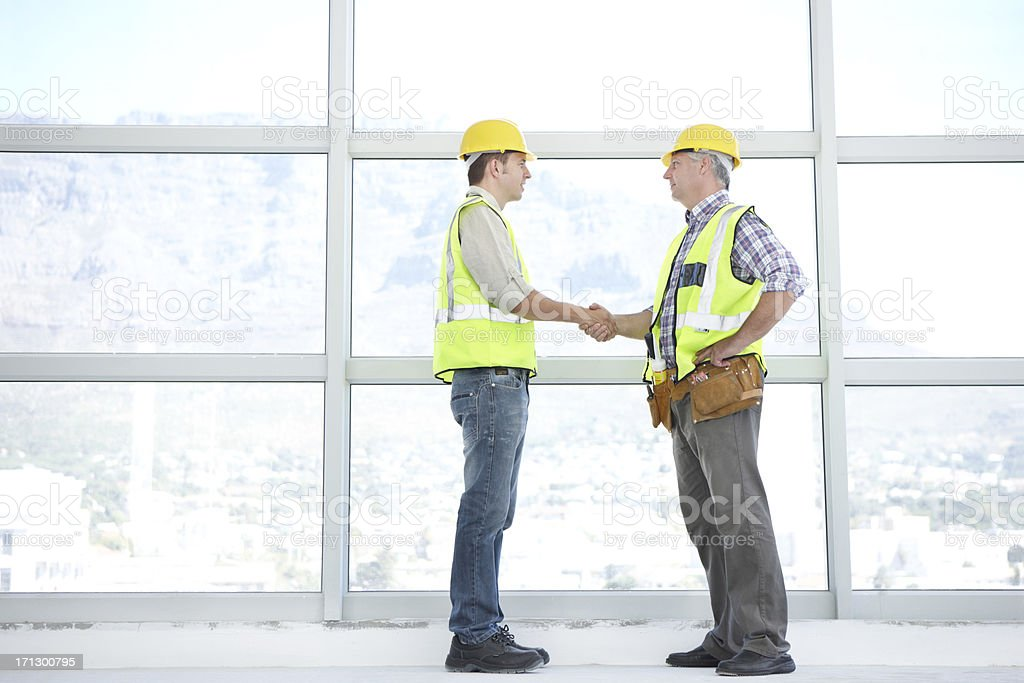 The coming together of two top architectural minds royalty-free stock photo