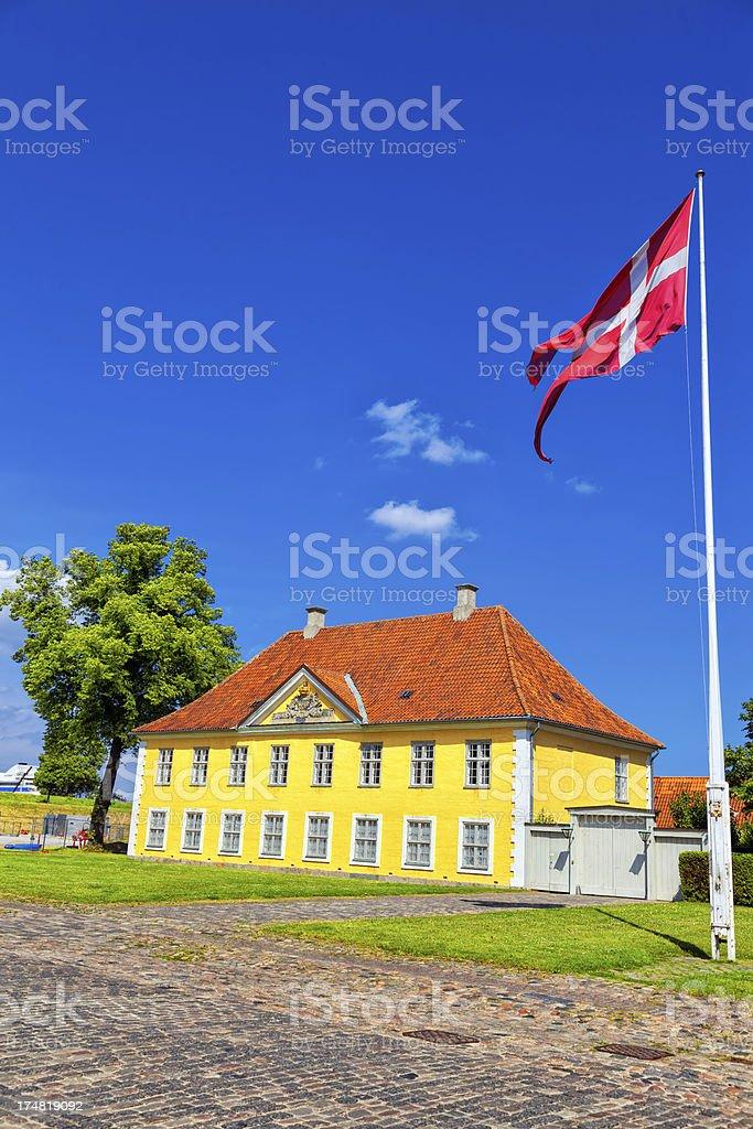 The Commander's House at Kastellet, Copenhagen royalty-free stock photo
