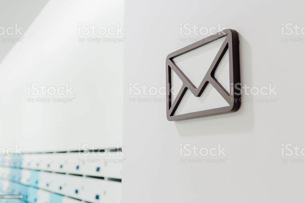 The communication by mail stock photo