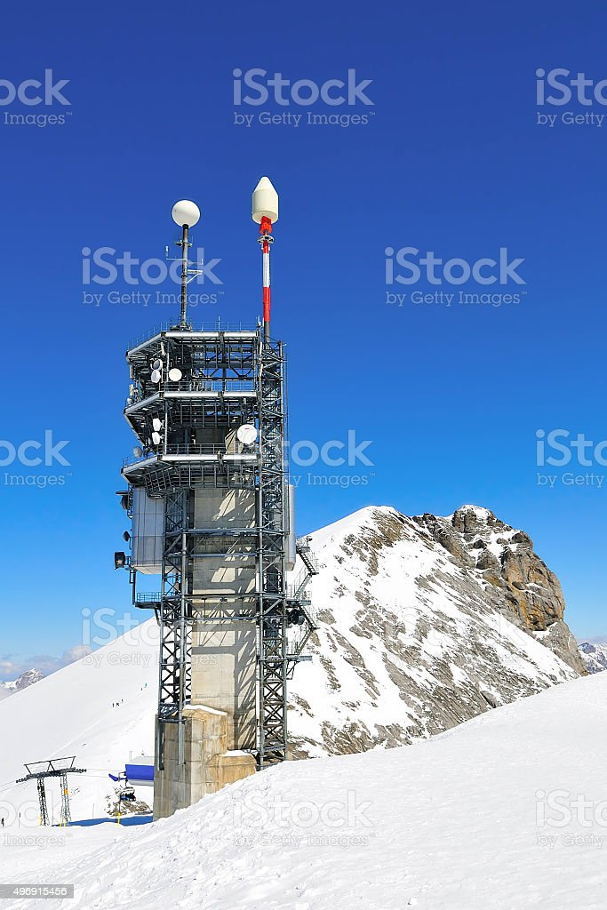 The communication tower stock photo