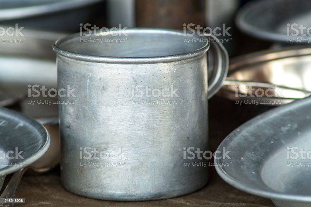 The composition of the metal circle stock photo