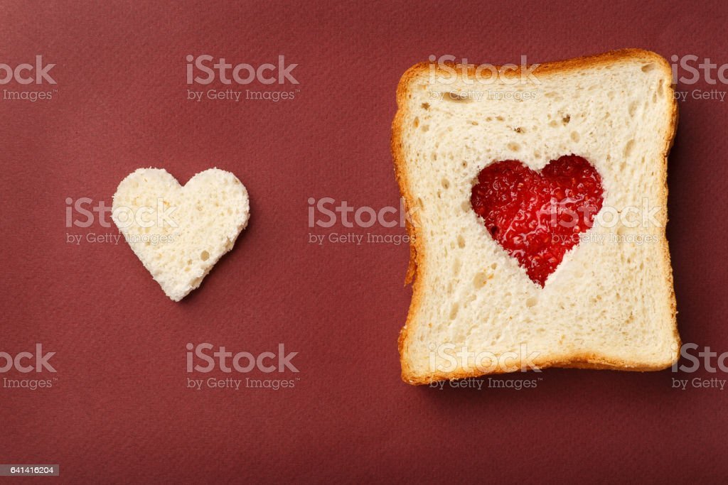 The composition of Valentine's Day. stock photo