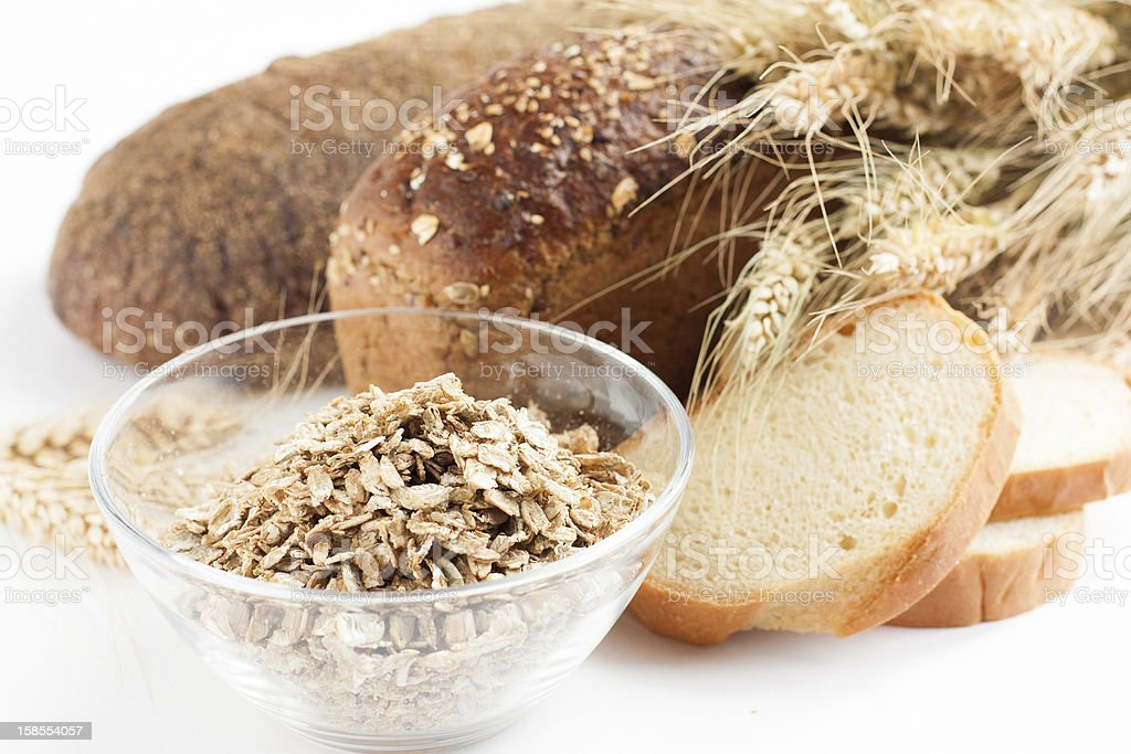 The composition of   wheat and grains products royalty-free stock photo