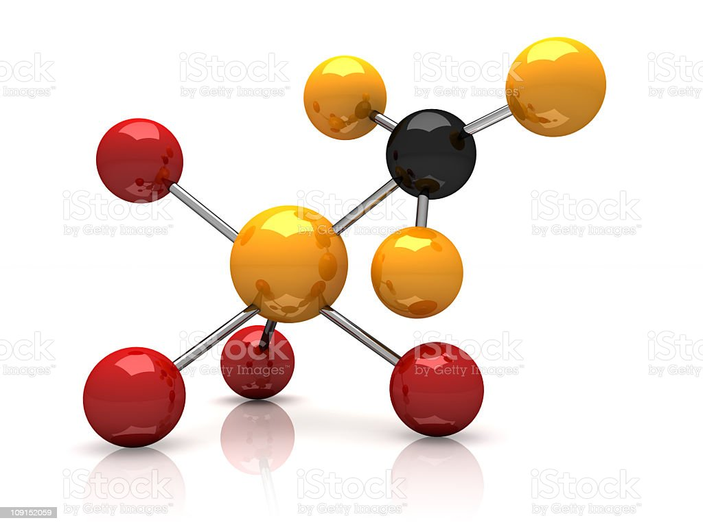 The compounds representing an atom stock photo