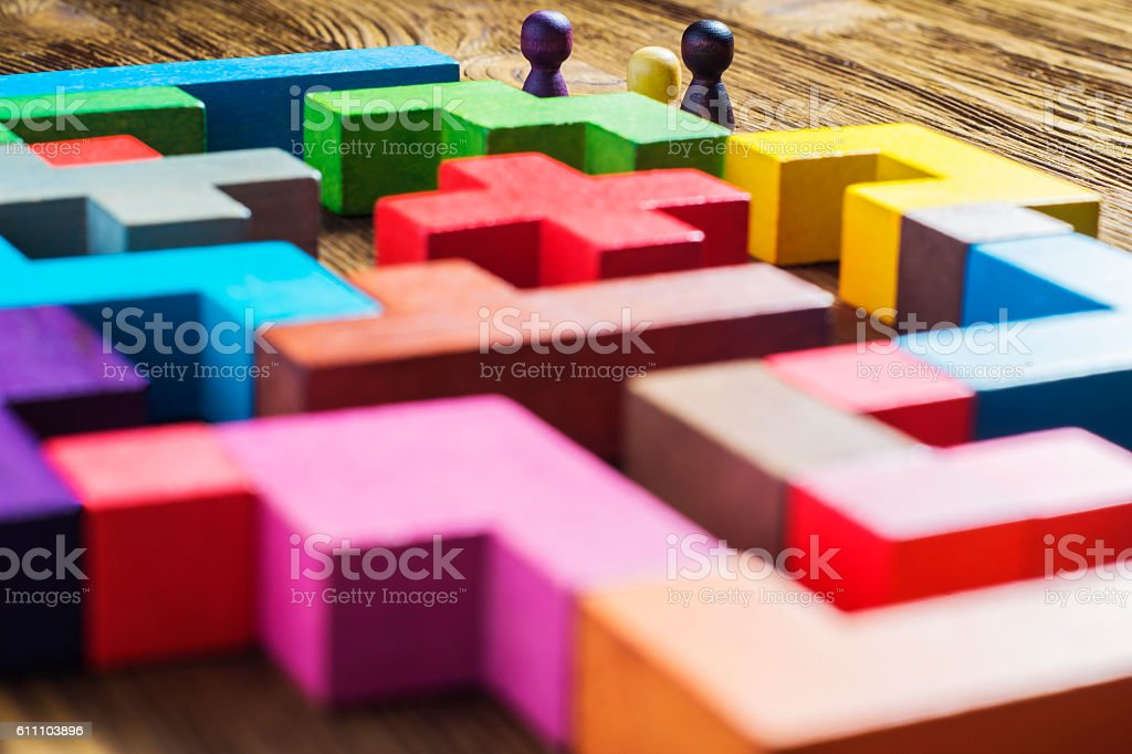 The concept of a business strategy, analytics, search for solutions stock photo